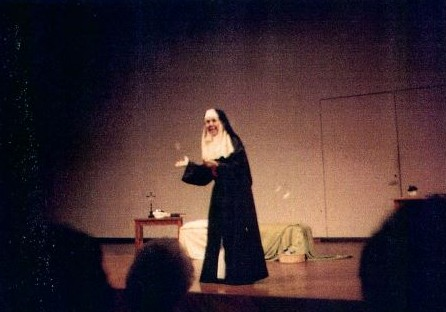 """Martha Ann Kirk, CCVI, performing """"Ashes Could Not Stop Her: The Story of Ref. Mother St. Pierre Cinquin and the Beginnings of the Community of Faith and Service of the Incarnate Word Sisters in Texas"""""""