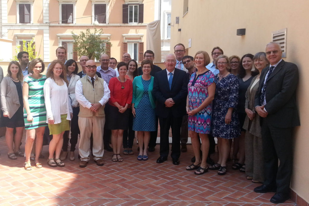 Maria Williams with other members of the Rome Seminar