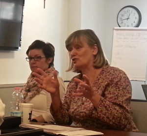 Maria Williams (right) at the 2014 Rome Seminar