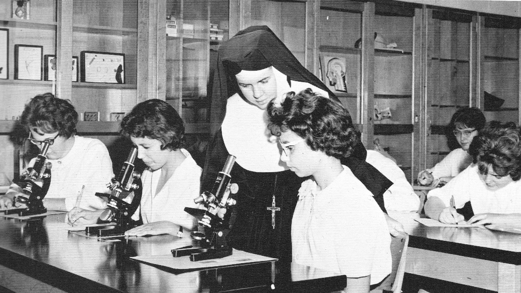 Sister of St. Joseph Teaching a Science Class in Brooklyn, 1965
